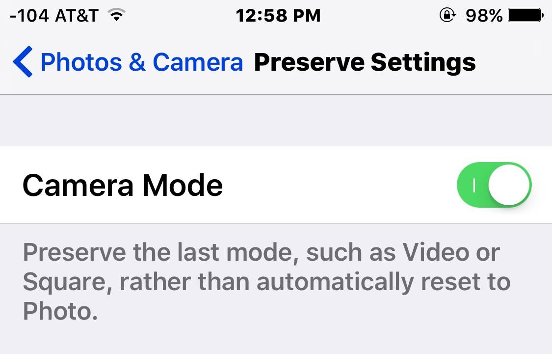 Comment définir le mode de caméra par défaut sur iPhone