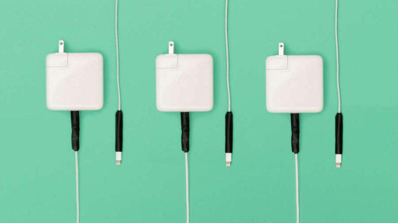 Comment empêcher les cordons d'alimentation Apple de s'effilocher