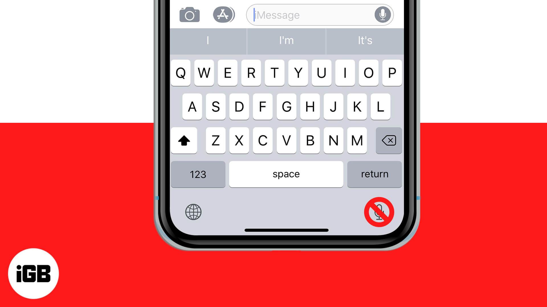 Comment supprimer l'icône du microphone du clavier sur iPhone et iPad