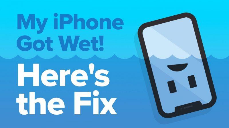 Mon iPhone est mouillé!  Comment réparer les dégâts d'eau sur iPhone.