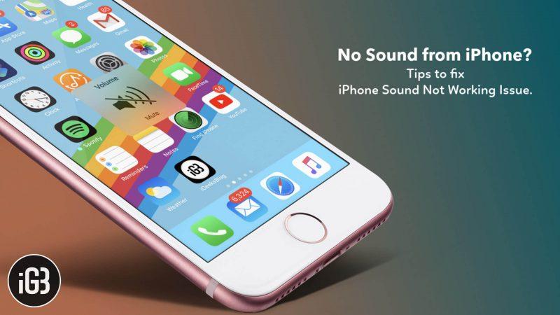 Pas de son sur iPhone?  Conseils pour résoudre le problème de son iPhone ne fonctionne pas