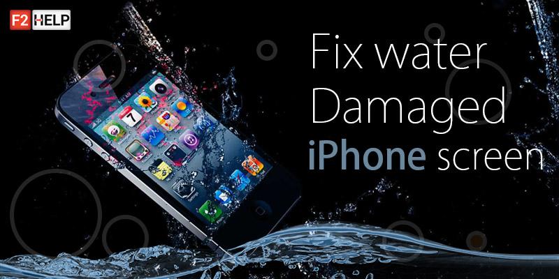 Réparer l'écran de l'iPhone endommagé par l'eau