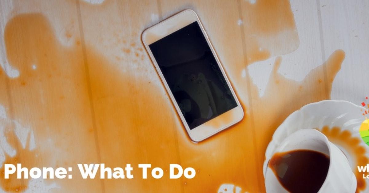 Téléphone humide: que faire si vous laissez tomber votre téléphone dans l'eau
