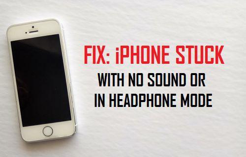 iPhone bloqué sans son ou en mode casque