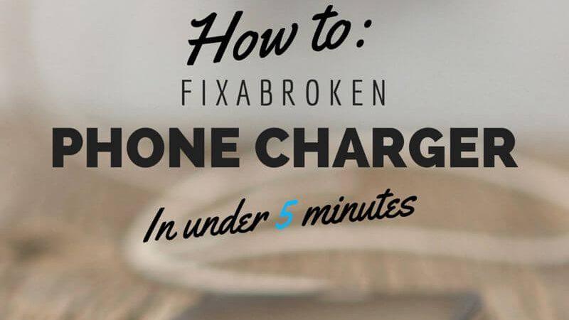 Réparation de chargeur de téléphone cassé |  Bouchons de port