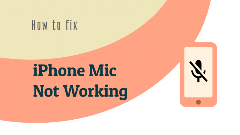 iPhone Mic ne fonctionne pas?  Voici la solution!